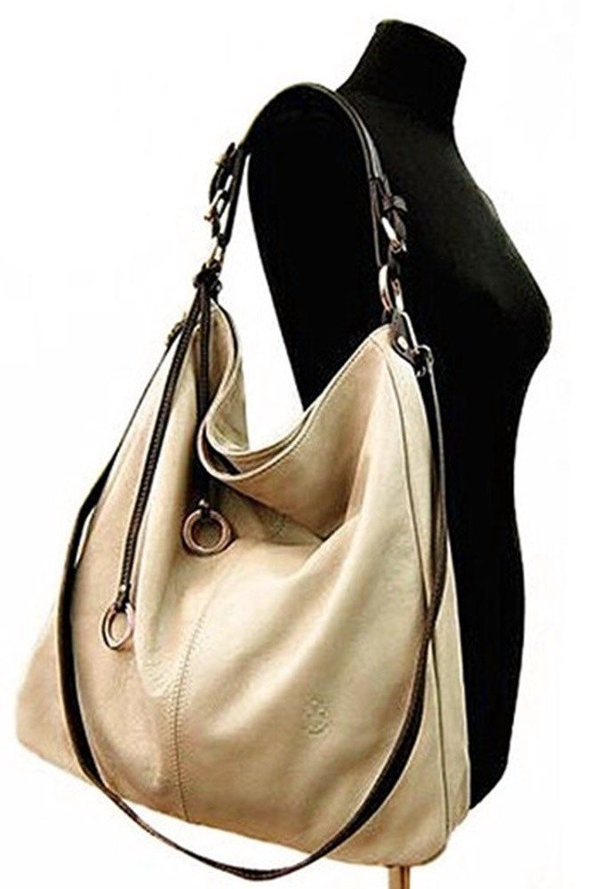 Large Soft Italian Leather Slouch Shoulder Bag New Arrival